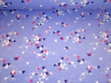Schneekitz Kombi Triangles lila-weiß-Glitzer